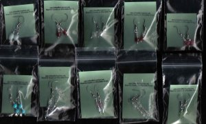 25 Pairs of Dangle Glass Earrings Collection FREE SHIPPING