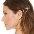 Decorative Infinity Hair Clip - Gold (color)