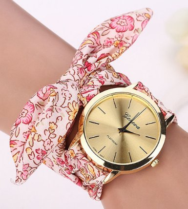 Women's Floral Cloth Bracelet Fashion Watch
