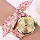 Women's Floral Cloth Bracelet Fashion Watch