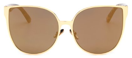 Women's Oversized Cat Eye Fashion Sunglasses - Gold - UV400