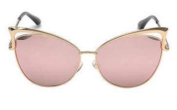 Women's Mirror Cat Eye Vintage Fashion Style Sunglasses - Pink
