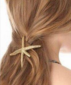 Starfish Hairclip - Gold (color)
