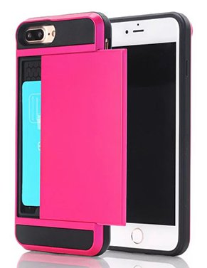 Protective Samsung Galaxy S7 Cell Phone Wallet Case - Hot Pink