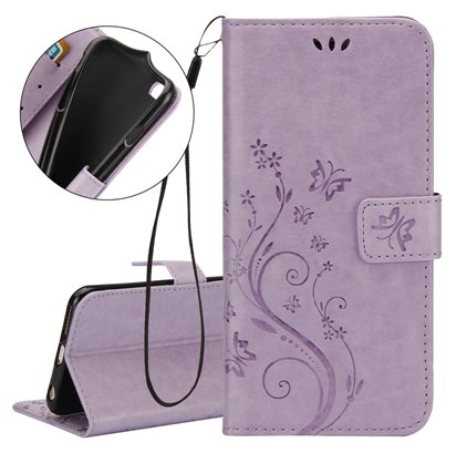 Multi Purpose Vintage iPhone 7 Wallet Stand - Violet