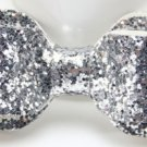 Sequin Bowknot Hair Clip Barrette - Silver (color)