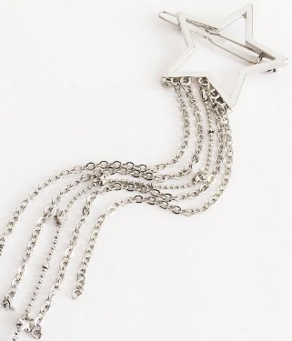 Shining Star Hair Clip - Silver