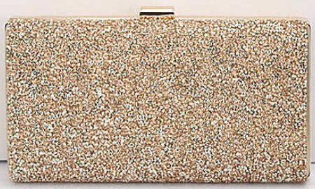 Women's Crystal Rhinestone Clutch Purse - Gold (color)