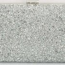 Women's Crystal Rhinestone Clutch Purse - Silver (color)