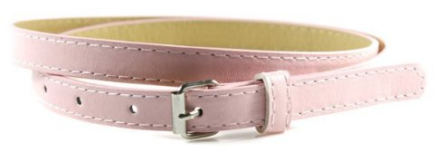 Women's Skinny Belt - Matte Pale Pink