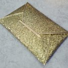 Ultra Thin Sequin Envelope Style Clutch Purse - Gold (color)