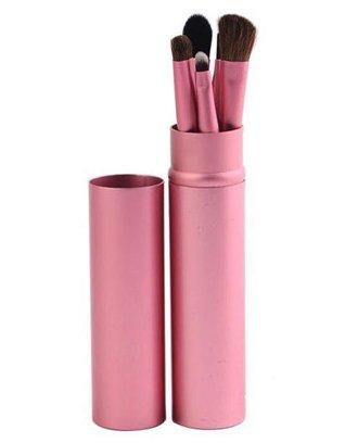 5 Piece Makeup Brush Set - Pink