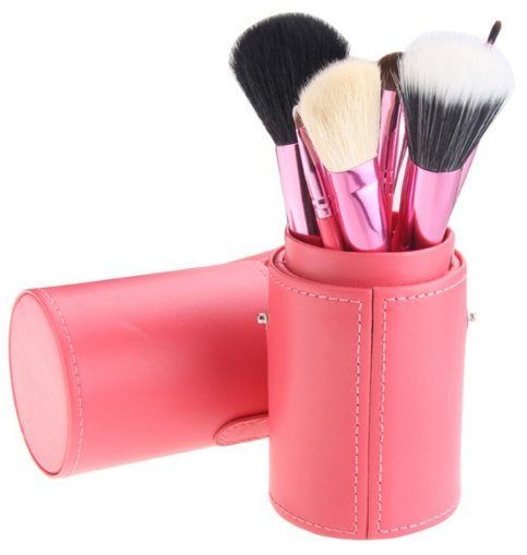 12 Piece Makeup Brush Set - Pink
