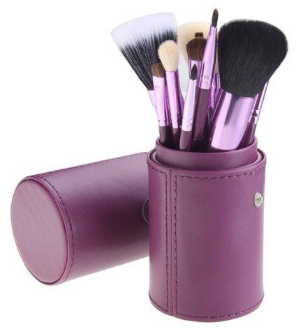 12 Piece Makeup Brush Set - Purple