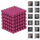 216pcs 5mm DIY Buckyballs Neocube Magic Beads Magnetic Toy Rose Red