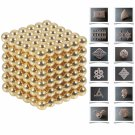 216pcs 5mm DIY Buckyballs Neocube Magic Beads Magnetic Toy Golden