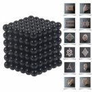 216pcs 5mm DIY Buckyballs Neocube Magic Beads Magnetic Toy Dark Black