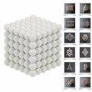 216pcs 5mm DIY Buckyballs Neocube Magic Beads Magnetic Toy Milky