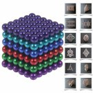 216pcs 5mm DIY Buckyballs Neocube Magic Beads Magnetic Toy (6 Colors)