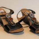 Kenneth Cole Reaction Black Seeking Cedar Wedge Sandals Size 10