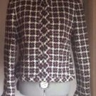 Women's Plaid Jones New York Wool Blend Multi Color Jacket Size 4