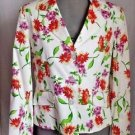 New Patchington Burt Waters Jacket White w/Floral Button Front Sz 8
