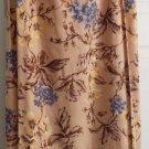 Talbots Linen Blend Skirt Faux Wrap Floral Size 8