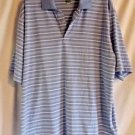 Men's Bolle b-tech Polo Short Sleeve Gold Blue and White Size XL