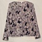 MSK Black and White Sparkly Blazer Jacket Size L