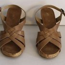Aerosoles Wedge Platform Plushover Strappy Sling Back Sandals Size 7.5 M