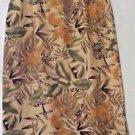 Women's Cynthia Taylor Tropical Print Silk MIdi Skirt Size M
