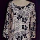 Pierri New York Sweater Black & White Beaded Pullover Size M