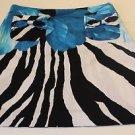 Grace Dane Lewis Blue White Black Floral Skirt Size 8