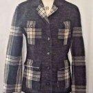 Democracy Black & White Wool Blend Button Down Jacket  Size 4