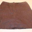 Bamboo Traders Brown Polka Dot Skort-Skirt Size 6