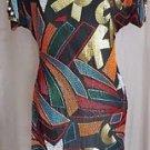 Vintage Gantos Silk Beaded  1980's Party Dress