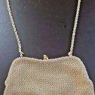 Vintage Lumured Golden Petite Bead Gold Shoulder Strap Bag Purse