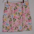 Central Park Pink Florl Cotton Skirt Size 6