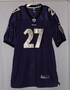 Baltimore Ravens Onfield Reebok Sewn Purple Jersey #27  Ray Rice Size 54