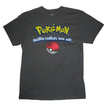 Catch Em All Men's Medium Tee (Gray)