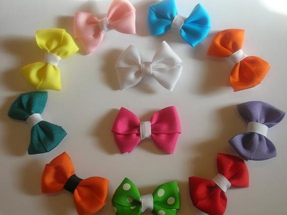 Set of 10 Baby Basic Bows
