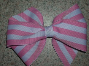 "4"" Basic Boutique -pink & white"