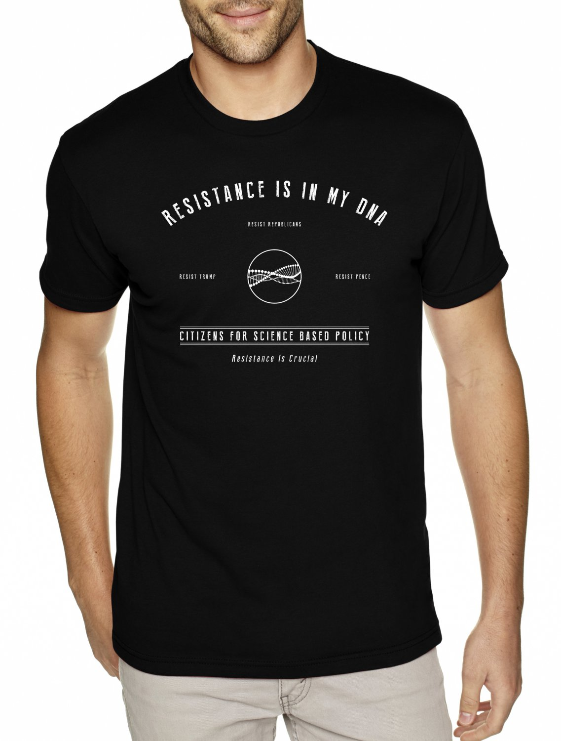 RESISTANCE IS IN MY DNA - Citizens For Science Based Policy - Premium Sueded Shirt SIZE M