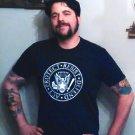 Act - Protect - Resist - Defend RESIST TRUMP Ramones Logo - Premium Sueded T Shirt SIZE L