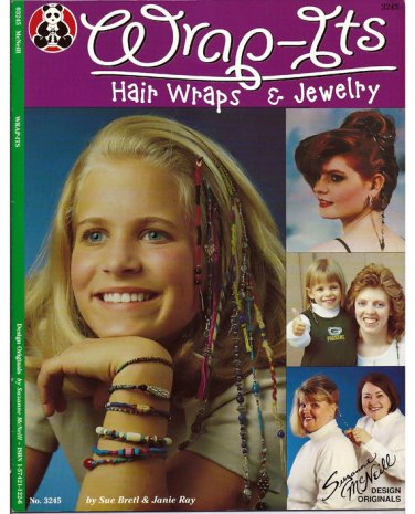 Wrap-Its Hair Wraps & Jewelry / Pattern Book Suzanne McNeill No. 3245