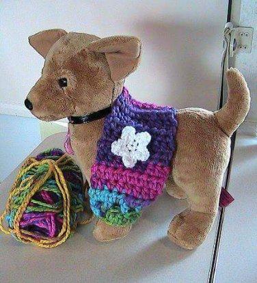 Crocheted X-Small Dog Shrug