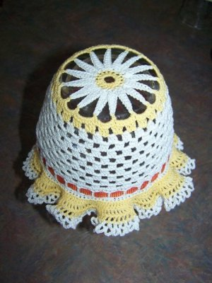 Crochet DAISY Bonnet For Infant