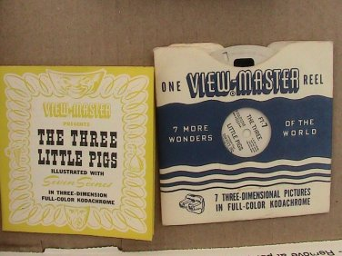 FT7 The Three Little Pigs Viewmaster Reel - Book - Sleeve