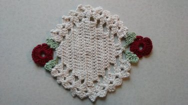 Oval Flower Coasters