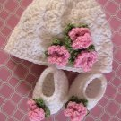 "18"" Doll  - Hat & Shoes - Hand Crocheted"